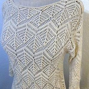 JEANNE PIERRE Tops - 3 FOR $20 * Jeanne Pierre off white crochet top